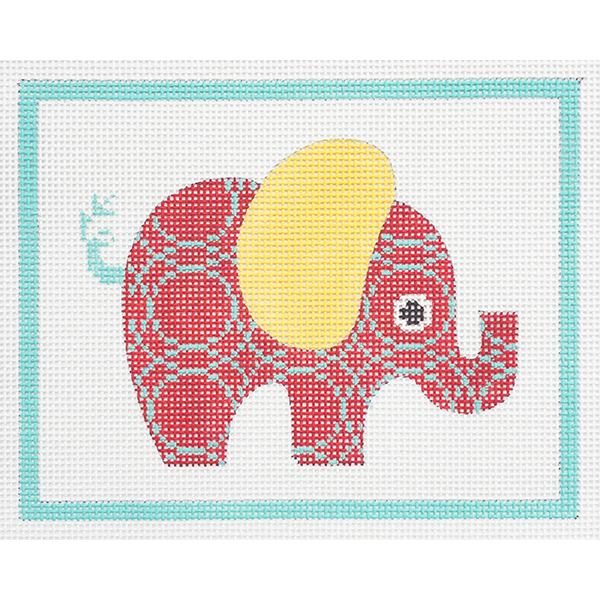 RED PATTERNED ELEPHANT