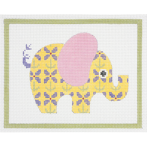 YELLOW PATTERNED ELEPHANT
