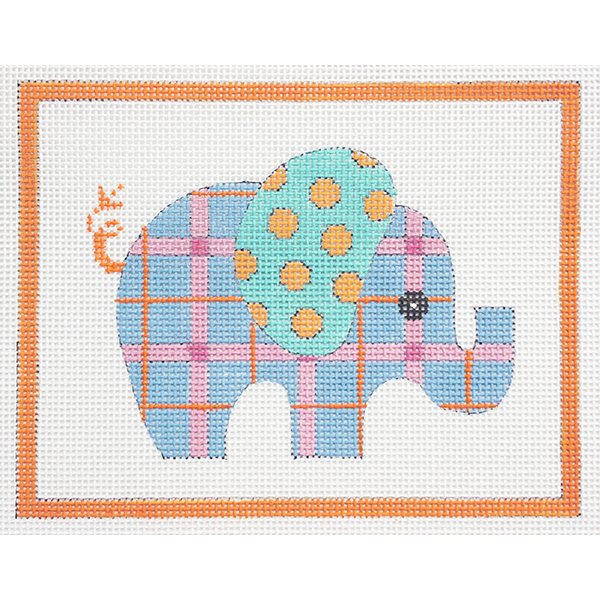 BLUE PATTERNED ELEPHANT