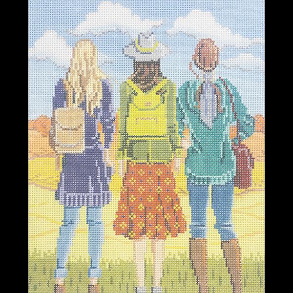 THREE GIRLS IN FALL