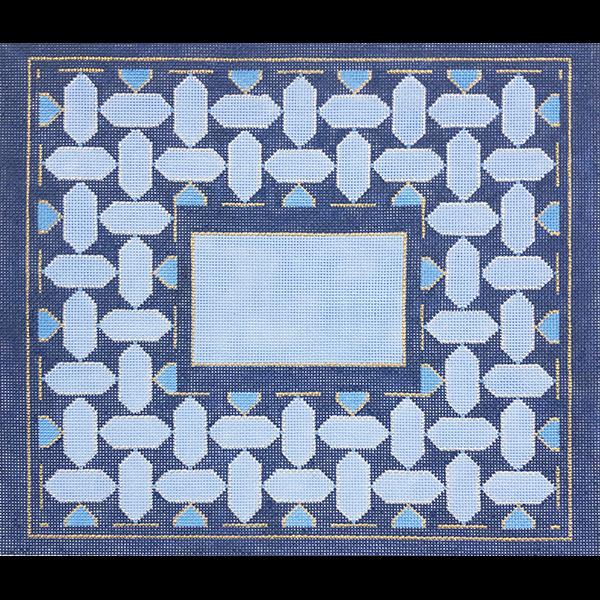 BLUE GEOMETRIC I TALLIS