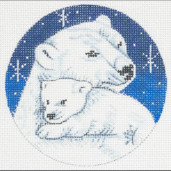 MAMA & CUB POLAR BEARS ORNAMENT
