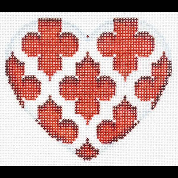 QUATREFOIL RED HEART
