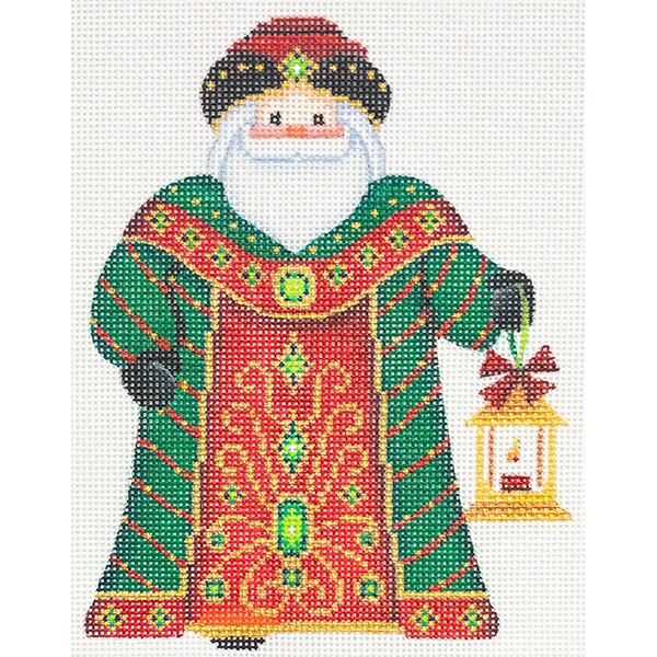SANTA GREEN  ROBE with LANTERN