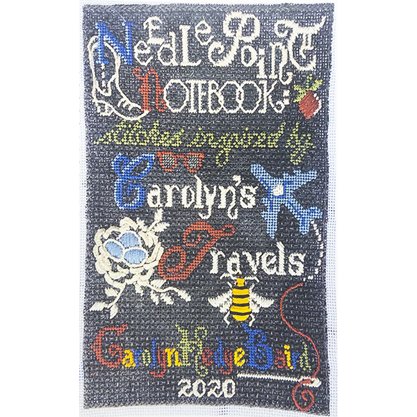 NEEDLEPOINT NOTEBOOK CAROLYN'S TRAVELS