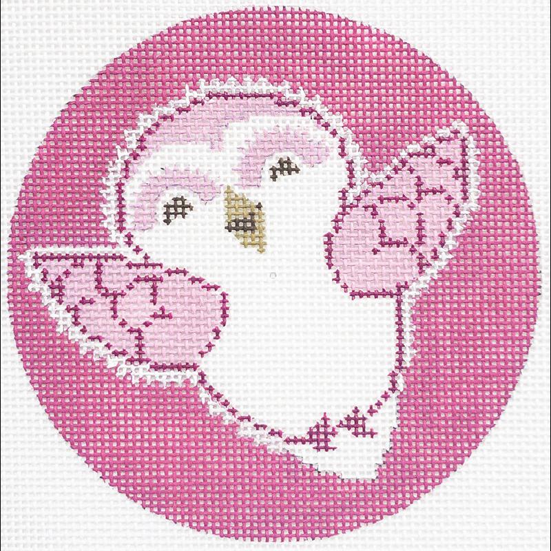 BABY SNOW OWL Pink