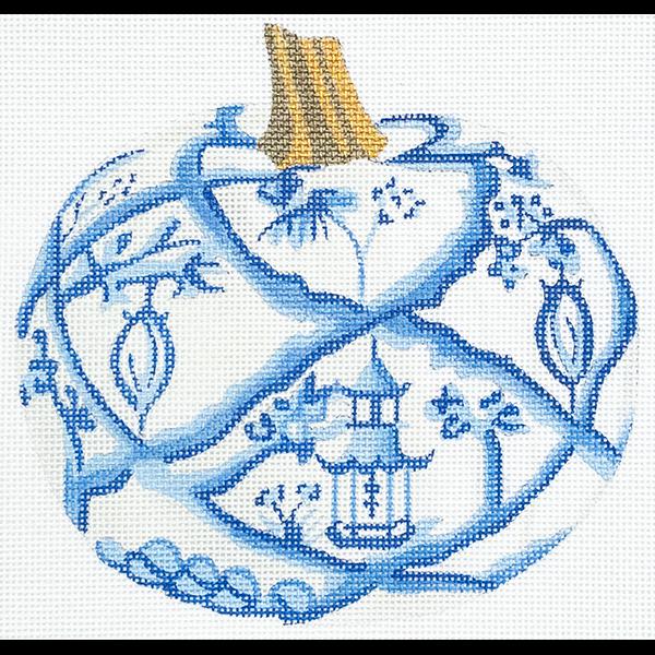 BLUE AND WHITE PUMPKIN GARDEN