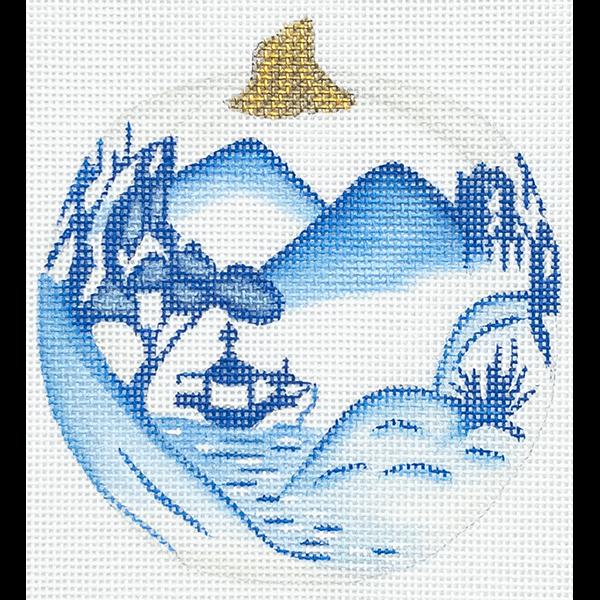 BLUE AND WHITE PUMPKIN MOUNTAINS
