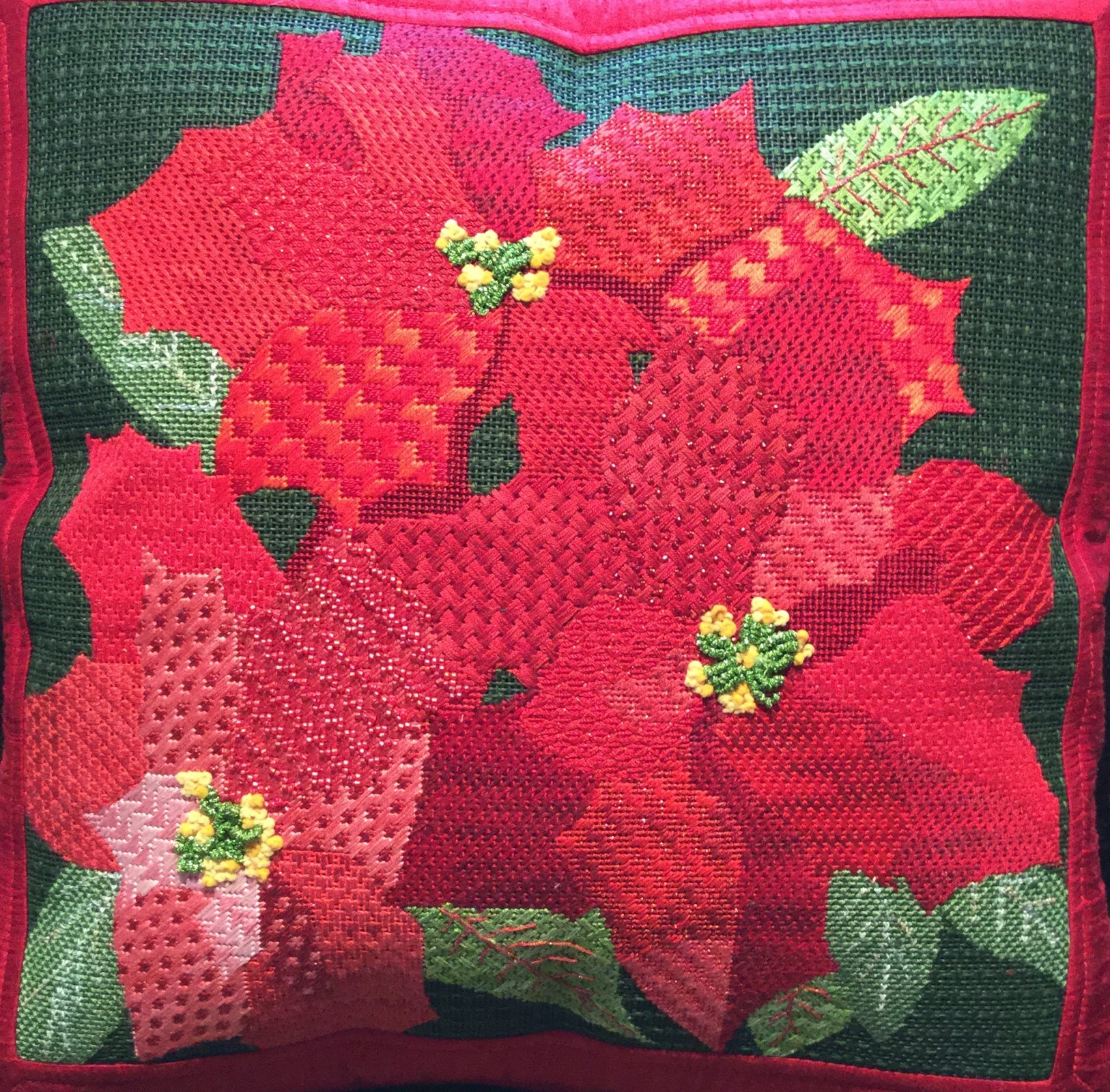 GIANT POINSETTIAS STITCH GUIDE