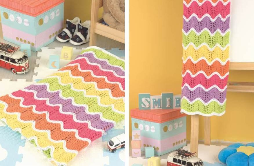 MEXICAN WAVE BLANKET KIT (knit) - Drop Ship Only