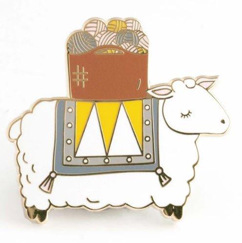 ENAMEL PIN Sheep Yarn