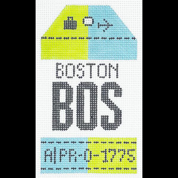 RETRO TRAVEL TAG - BOSTON (BOS)