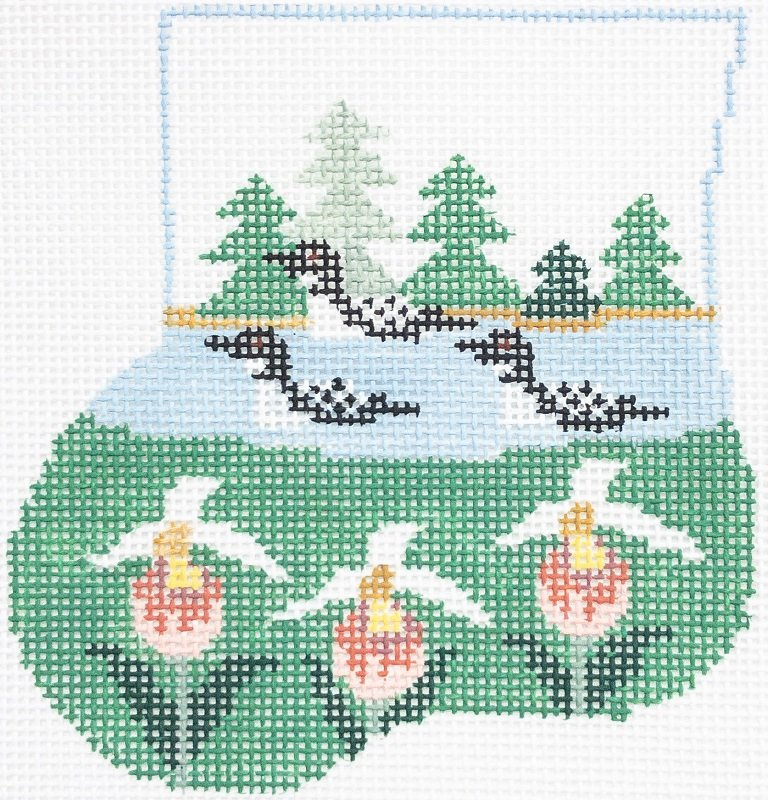LOONS LADYSLIPPERS W/ LOON