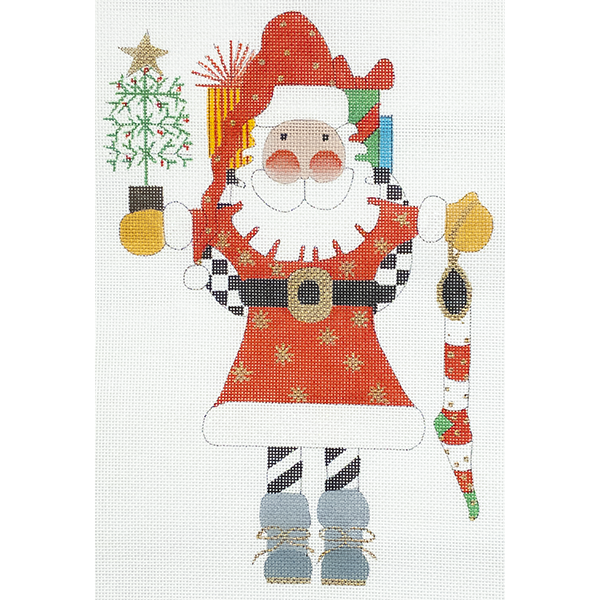 FEATHER TREE SANTA RED