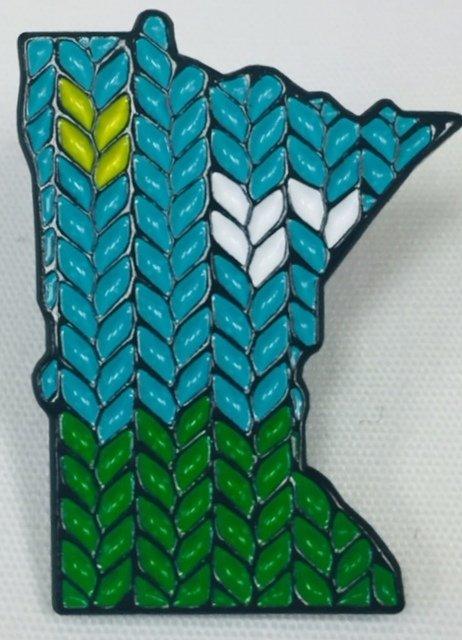 ENAMEL PIN Minnesota.Knit