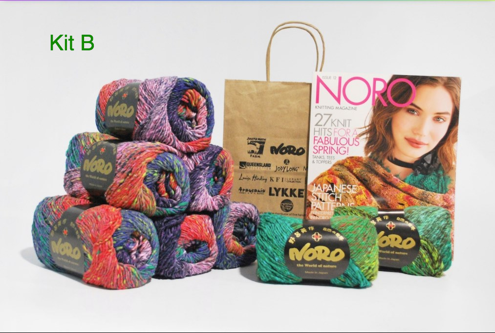 NORO SQUARE-IN-A-SQUARE BLANKET KIT (knit) - Drop Ship Only