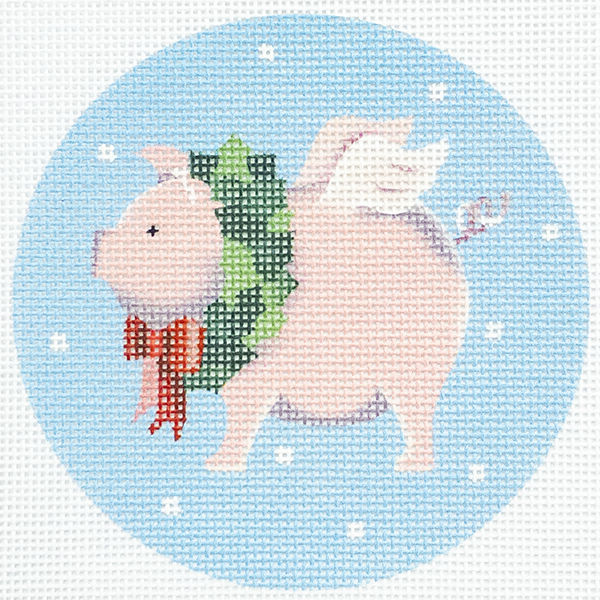 FLYING PIG WITH WREATH