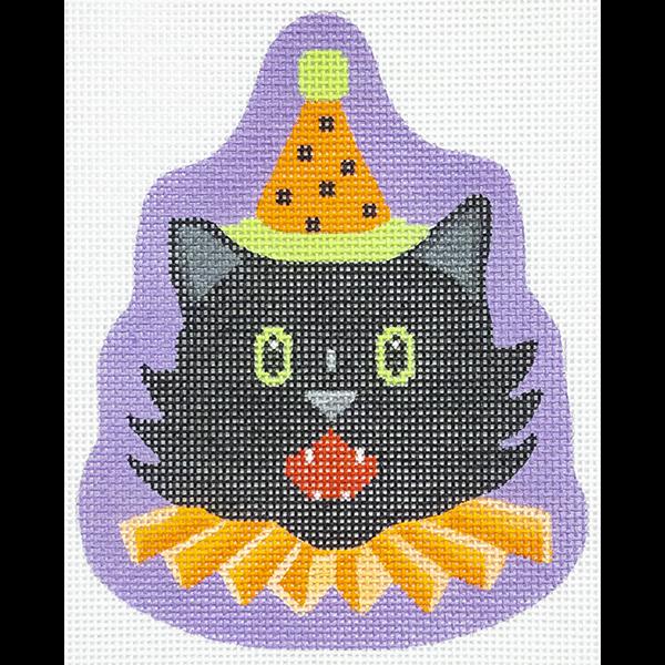 FANCY BLACK CAT ORNAMENT