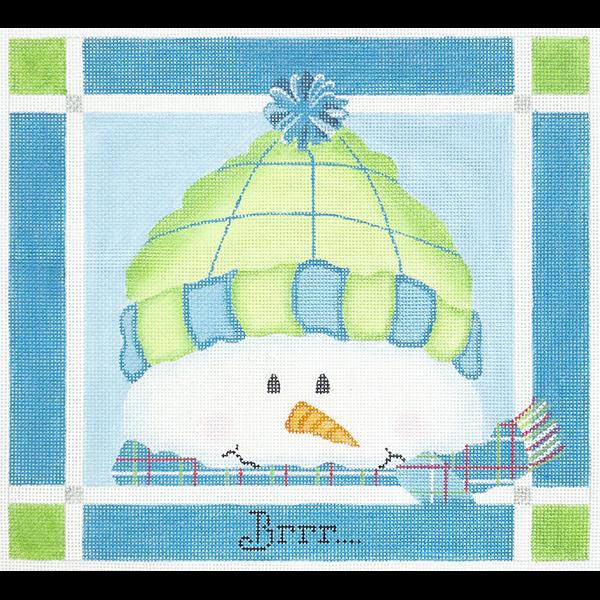 BRRR GREEN AND BLUE SNOWMAN