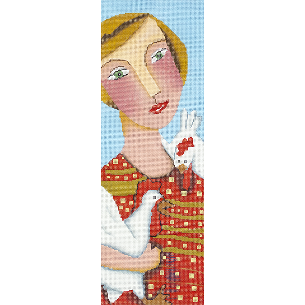 LADY with PET CHICKENS - 50% Off