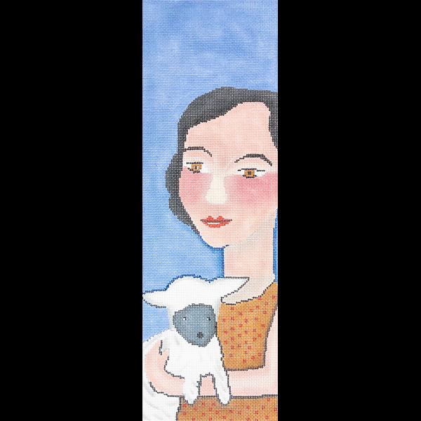 LADY with PET LAMB