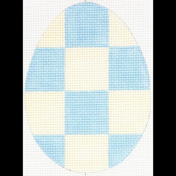 BLUE CHECKERED EGG