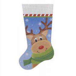 WRAPPED UP REINDEER STOCKING