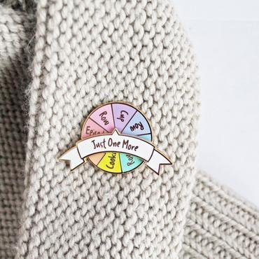 ENAMEL PIN Just One More Spinner