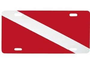 Plastic Dive Flag Plate Trident