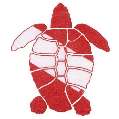 Die Cut Sea Turtle W/ Dive Flag Sticker