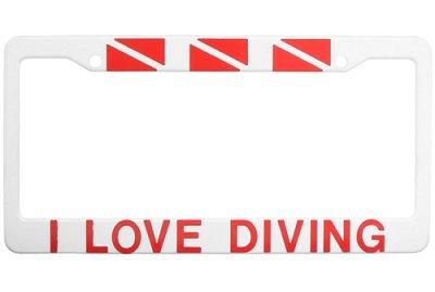 License Plate I Love Diving