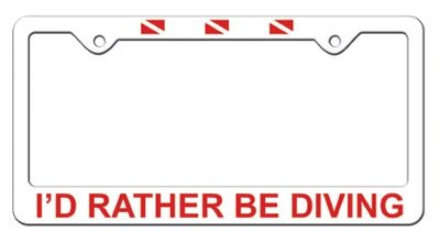 License Plate I'd Rather Be Diving