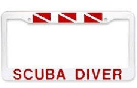 License Plate Scuba Diver