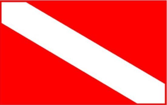 Dive Flag Sticker 2 Pack Trident
