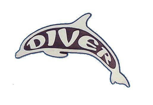 Dolphin Diver Stick On Emblem