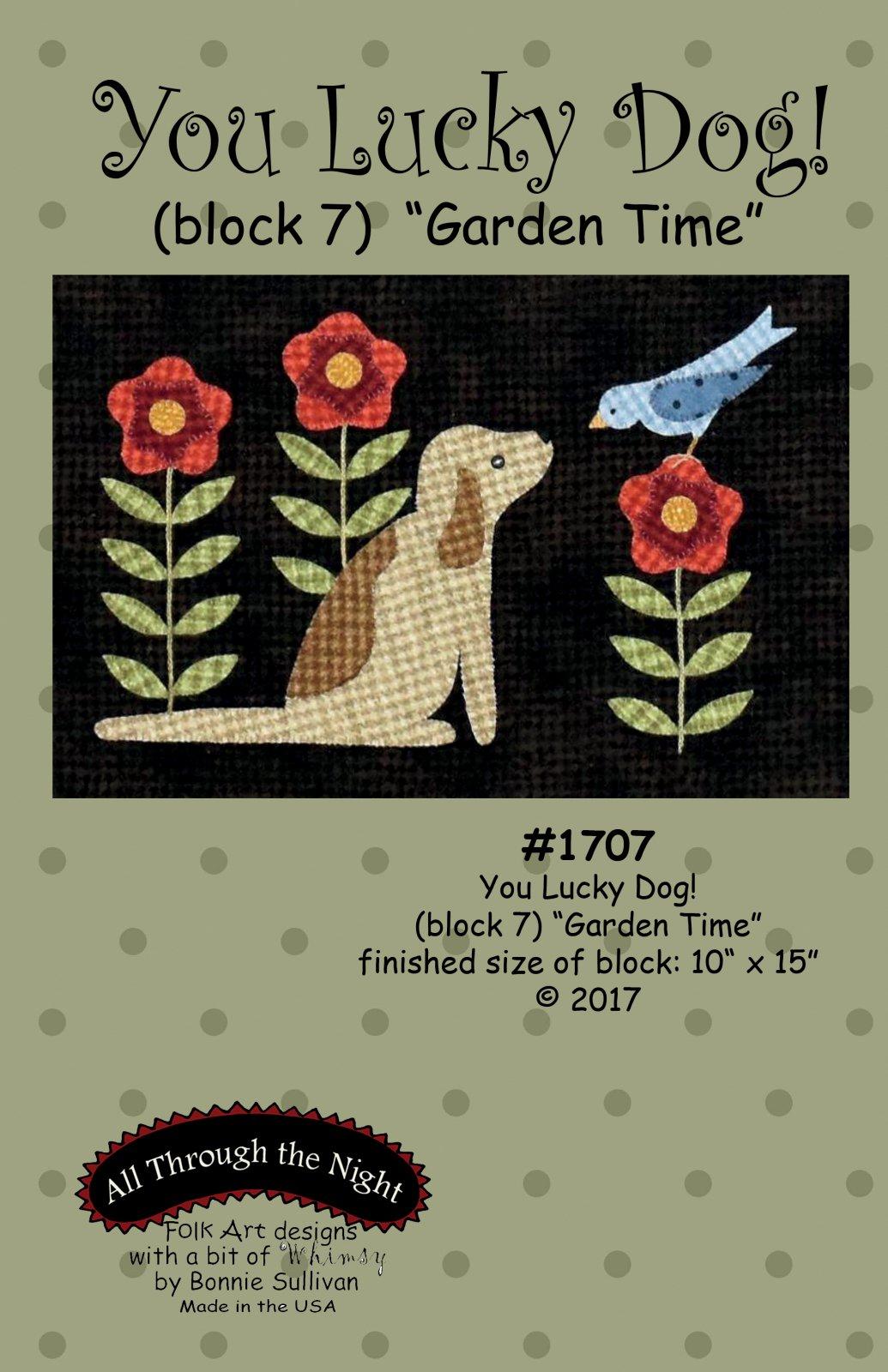 1707 You Lucky Dog Garden Time