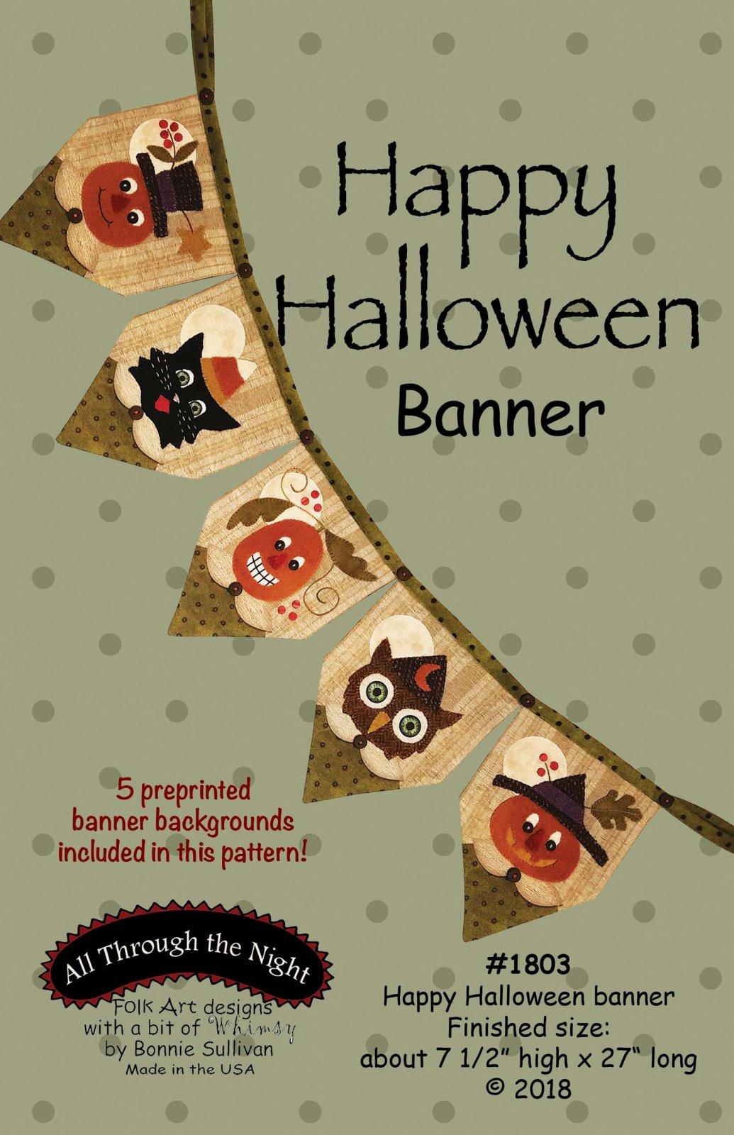 1803 Happy Halloween Banner