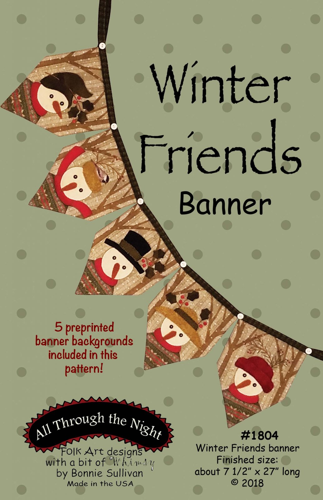 1804 Winter Friends Banner