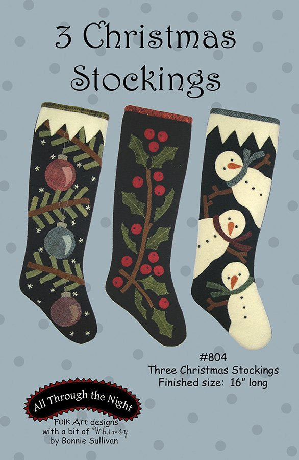 804 Three Christmas Stockings