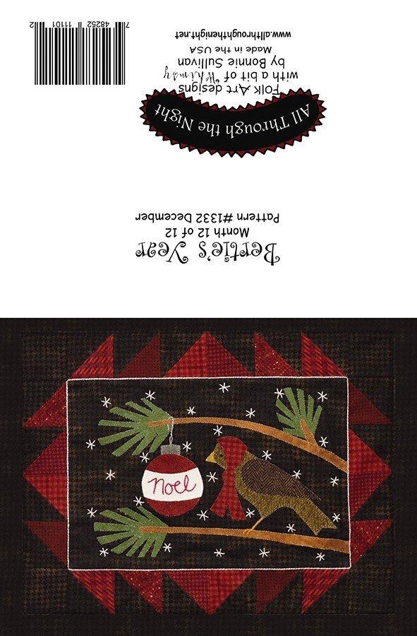 GC1552 Bertie's Year December Greeting Card