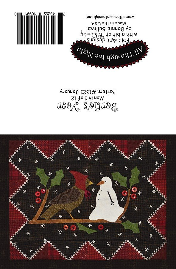 GC1541 Bertie's Year January Greeting Card