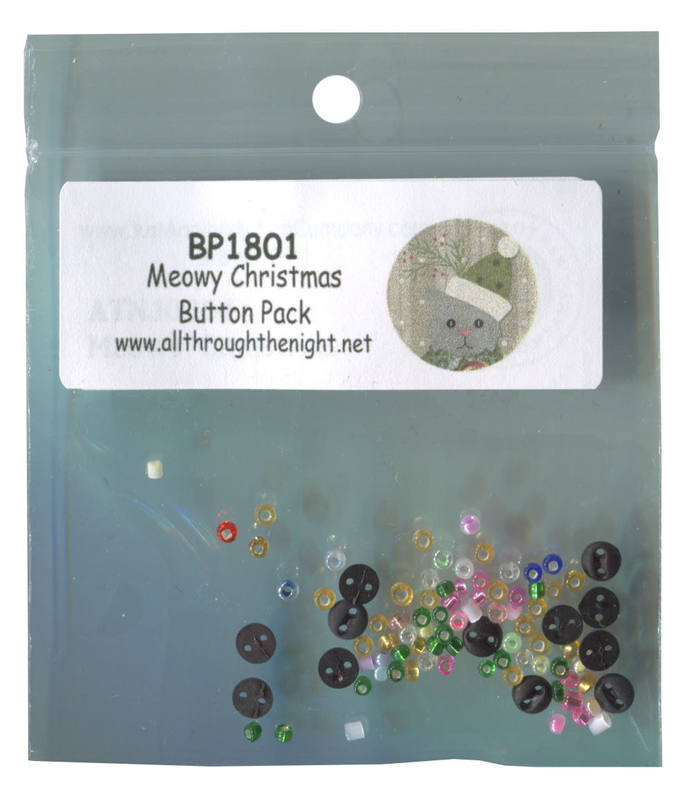 BP1801 Meowy Christmas Button Pack