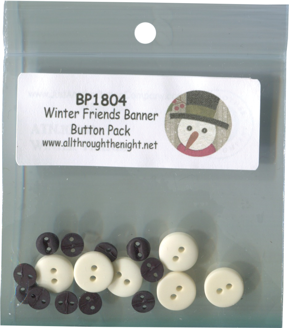 BP1804 Winter Friends Banner Button Pack