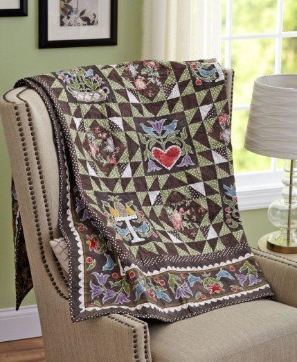 Folk-AL Point Quilt Fabric Kit w/Free Shipping