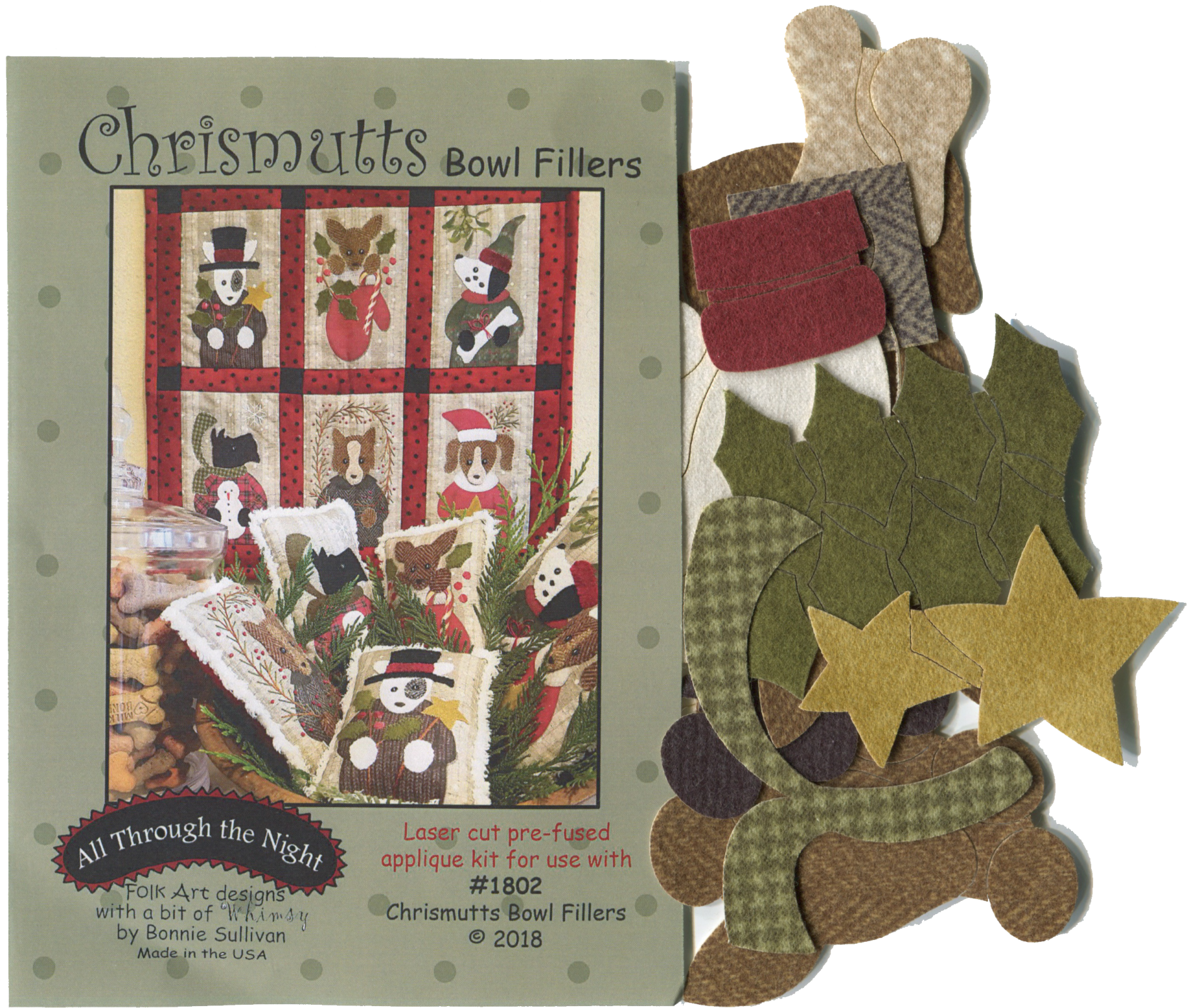 K1802 Chrismutts Applique Kit