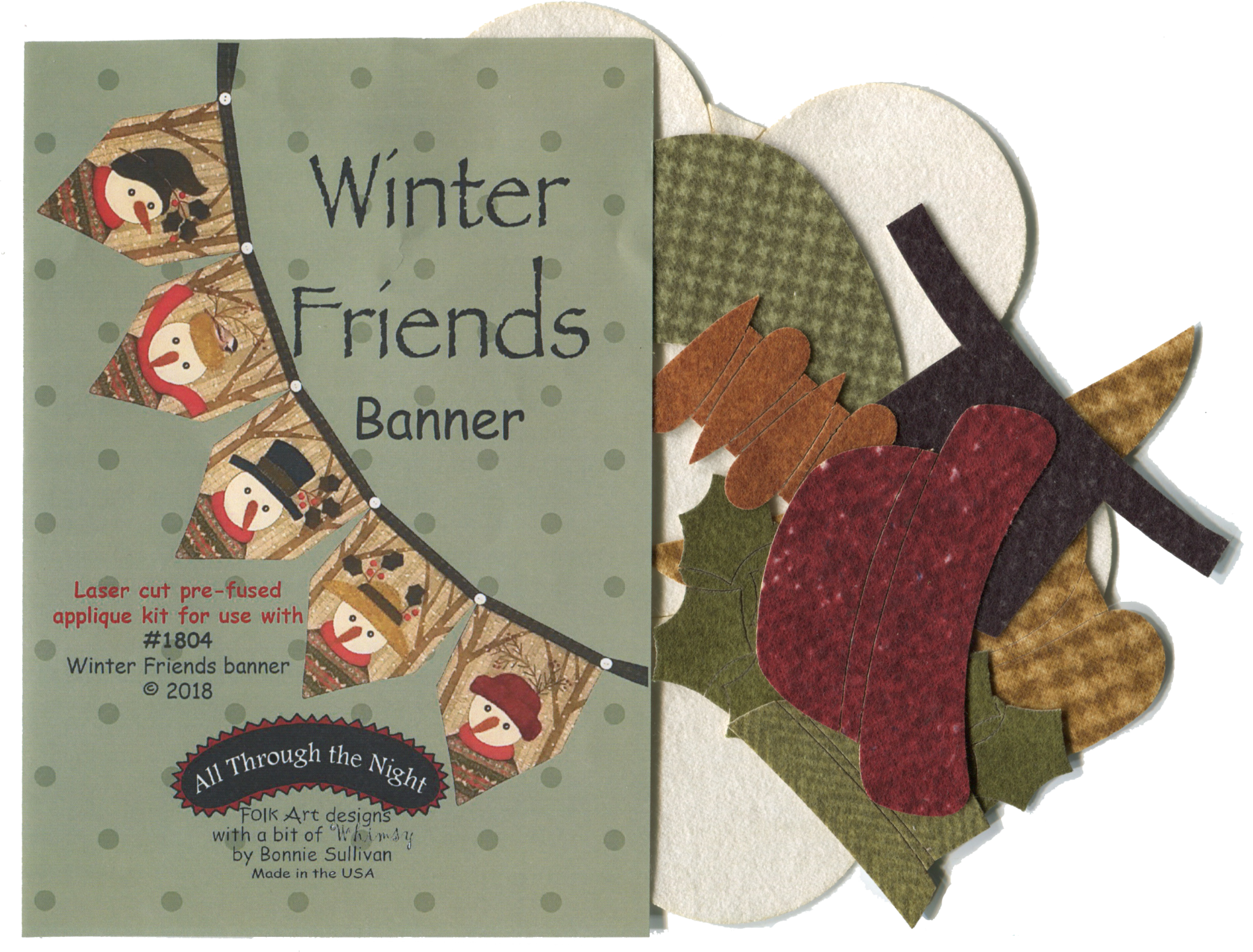 K1804 Winter Friends Banner Applique Kit