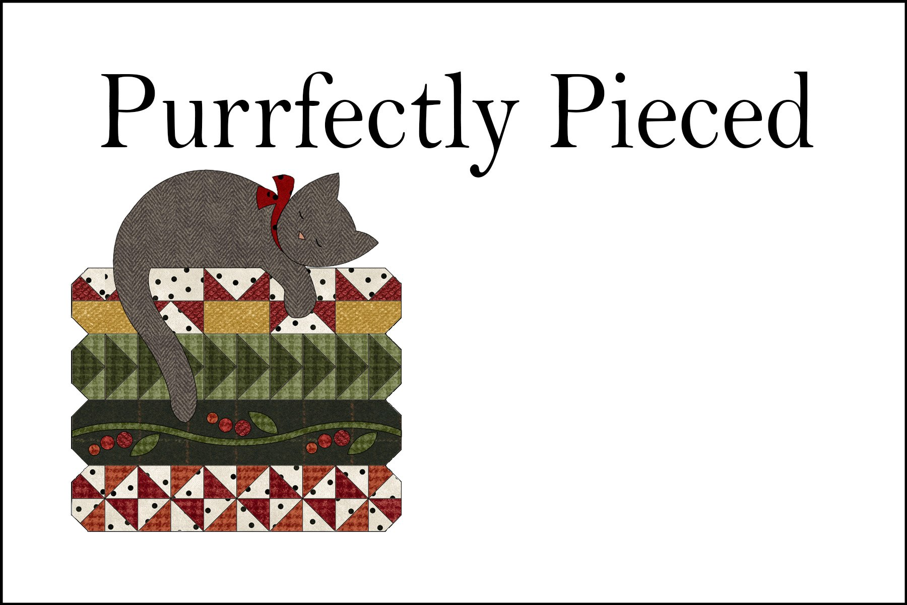 QL1502 Purrfectly Pieced Quilt Label