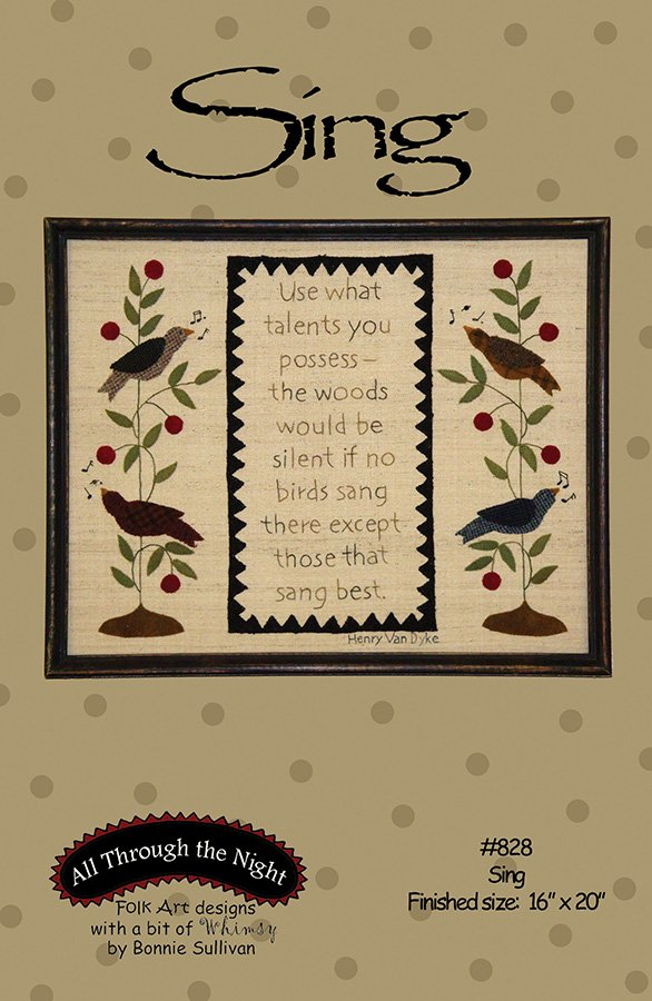 K828 Sing Stitchery Fabric Kit