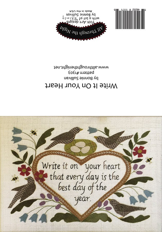 GC1559 Write it on Your Heart Greeting Card