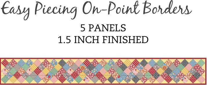 Tensisters Easy Piecing Grid 1.5 Finished On Point Border Grid